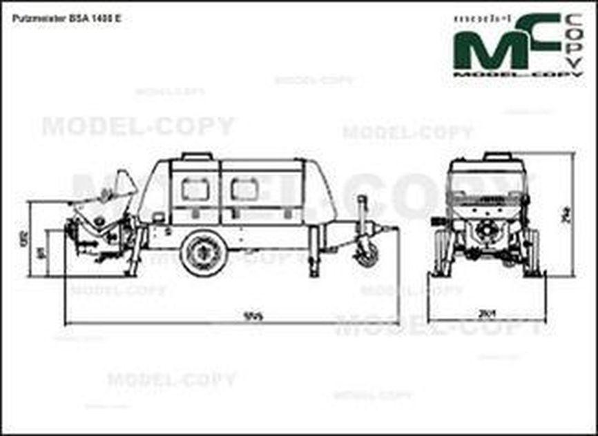 Putzmeister BSA 1408 E - drawing