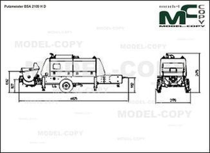 Putzmeister BSA 2109 H D - 2D-ritning