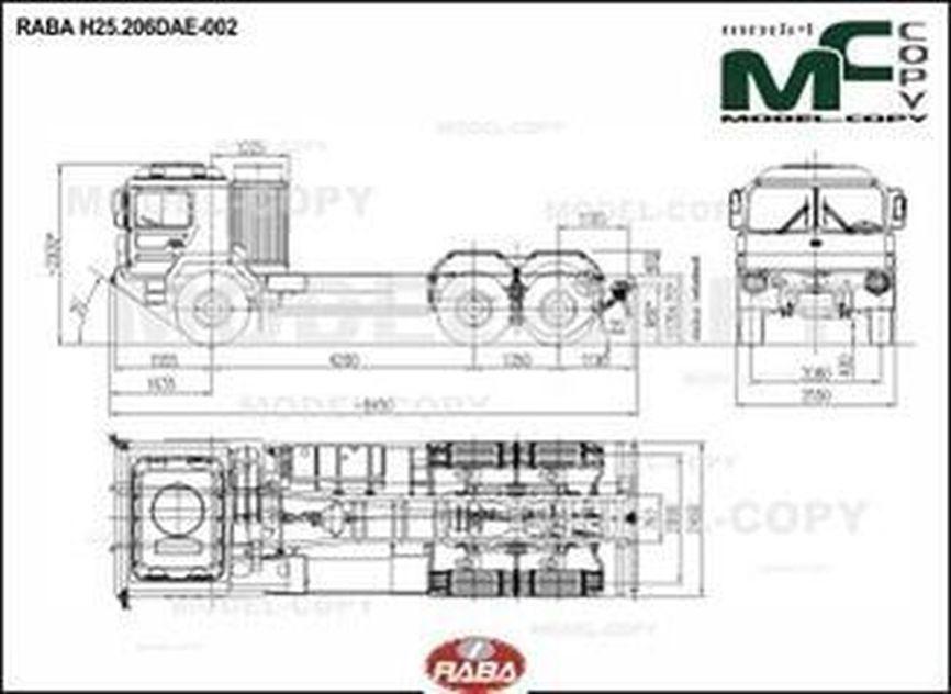 RABA H25.206DAE-002 - 2D drawing (blueprints)