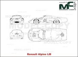 Renault Alpine LM - drawing