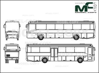 Renault Ares Double Center Door Overland Bus Drawing 28083