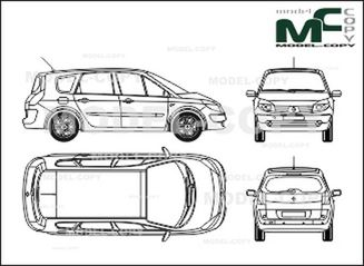 renault grand scenic  2004  - drawing - 28164