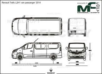 renault trafic l2h1 van passanger 2014 dessin 36170. Black Bedroom Furniture Sets. Home Design Ideas