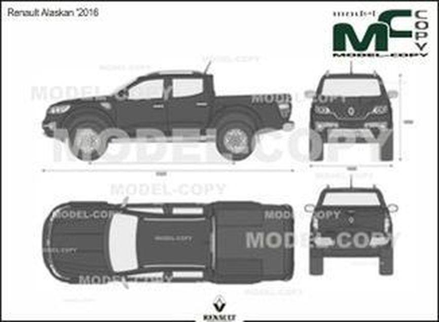 Renault Alaskan '2016 - 2D drawing (blueprints)