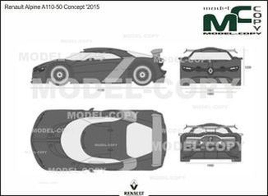 Renault Alpine A110-50 Concept '2015 - 2D drawing (blueprints)