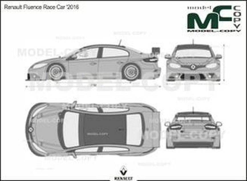 Renault Fluence Race Car '2016 - 2D drawing (blueprints)