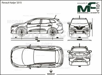 Renault Kadjar '2015 - 2D drawing (blueprints)