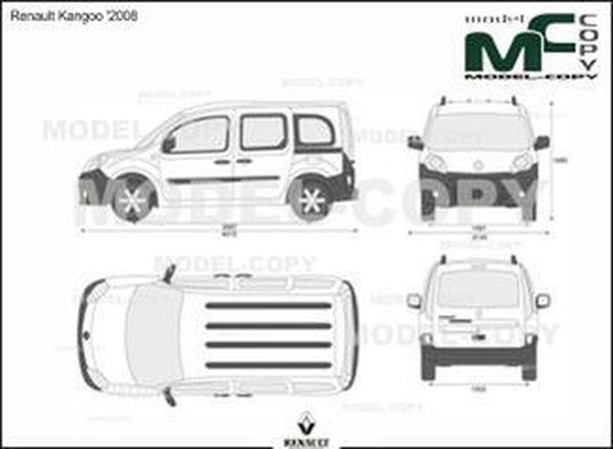 Renault Kangoo '2008 - 2D drawing (blueprints)
