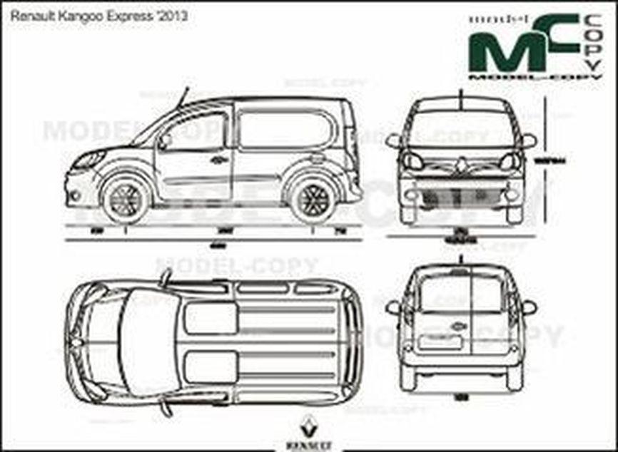 Renault Kangoo Express '2013 - 2D drawing (blueprints)