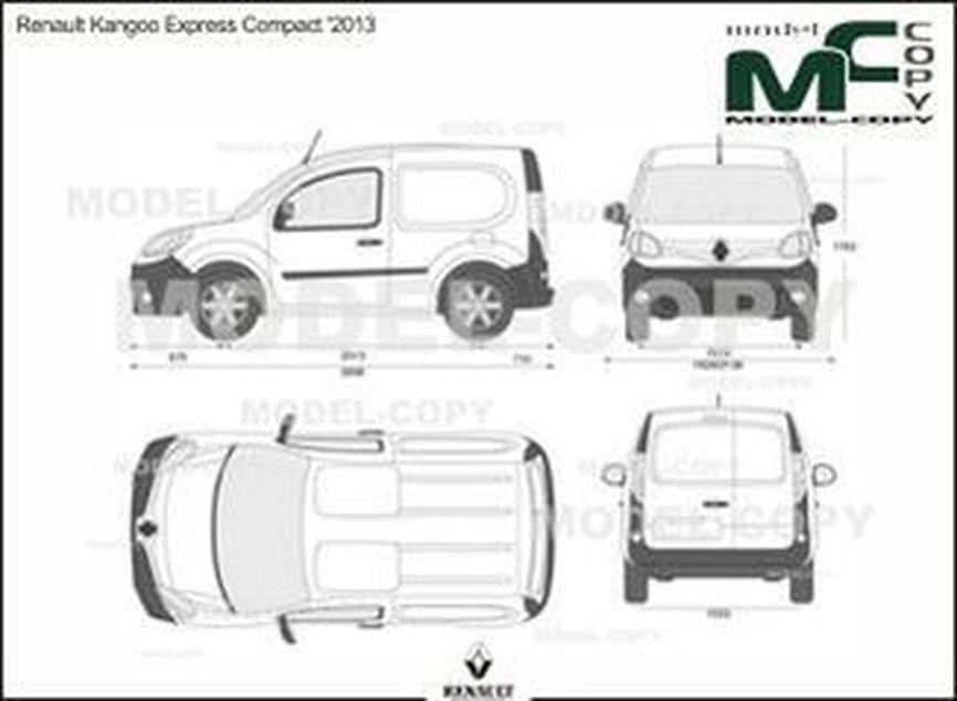 Renault Kangoo Express Compact '2013 - 2D drawing (blueprints)