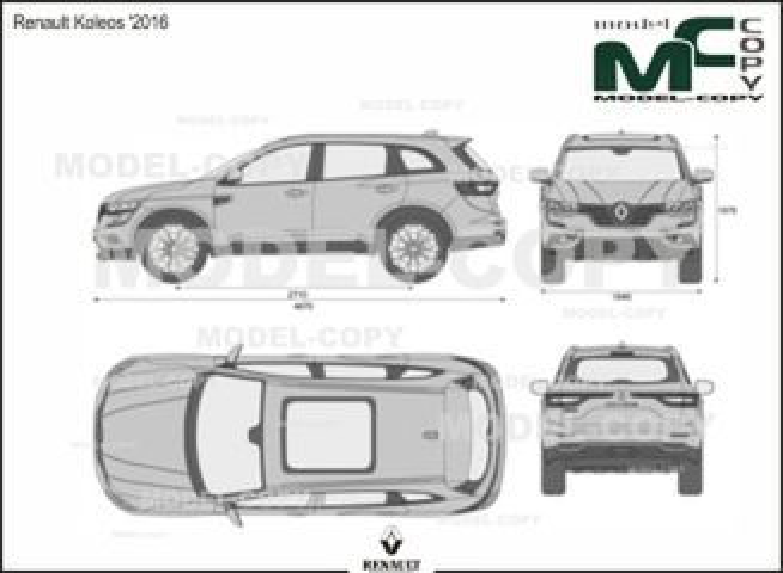 Renault Koleos '2016 - 2D drawing (blueprints)