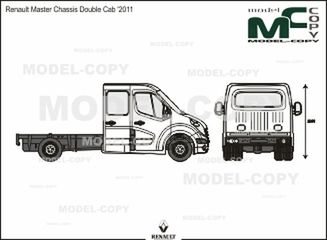 Renault Master Chassis Double Cab '2011 - 2D drawing (blueprints)