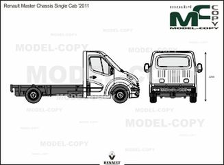 Renault Master Chassis Single Cab '2011 - 2D drawing (blueprints)