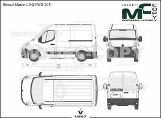 Renault Master L1H2 FWD '2011 - 2D drawing (blueprints)