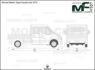 Renault Master Tipper Double Cab '2010 - 2D drawing (blueprints)