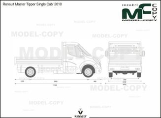 Renault Master Tipper Single Cab '2010 - 2D drawing (blueprints)
