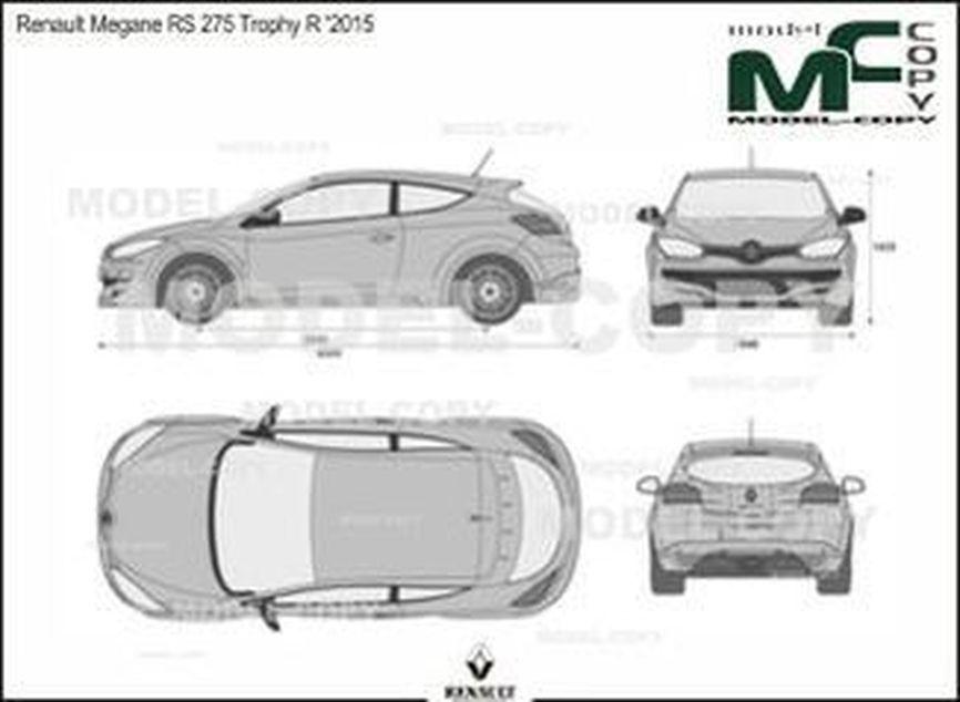 Renault Megane RS 275 Trophy R '2015 - 2D drawing (blueprints)