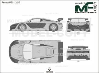 Renault RS01 '2015 - 2D drawing (blueprints)
