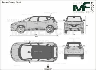 Renault Scenic '2016 - 2D drawing (blueprints)