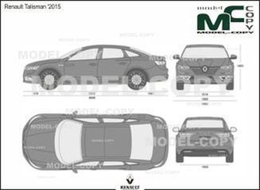 Renault Talisman '2015 - 2D drawing (blueprints)