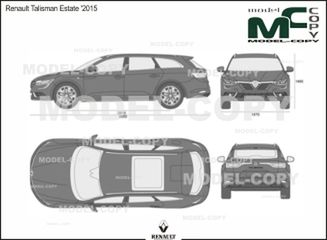 Renault Talisman Estate '2015 - 2D drawing (blueprints)