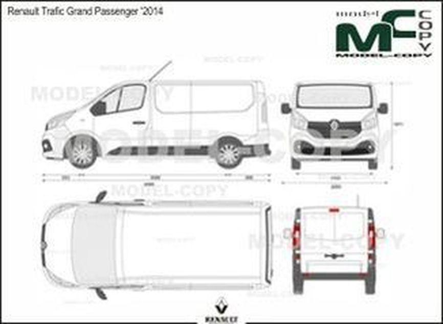 Renault Trafic Grand Passenger '2014 - 2D drawing (blueprints)