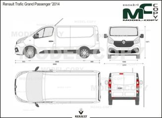 Renault Trafic Grand Passenger '2014 - 2D drawing (blueprints)