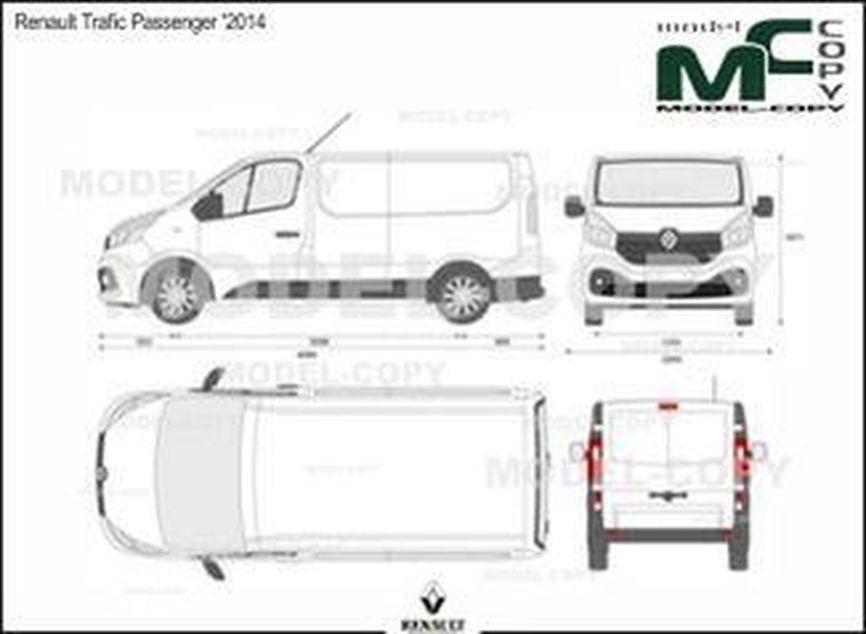 Renault Trafic Passenger '2014 - 2D drawing (blueprints)