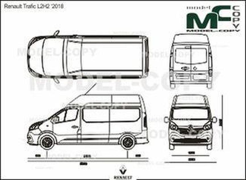 Renault Trafic L2H2 '2018 - 2D drawing (blueprints)