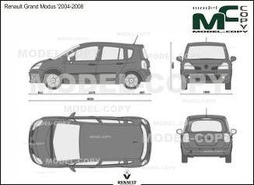 Renault Grand Modus '2004-2008 - 2D drawing (blueprints)
