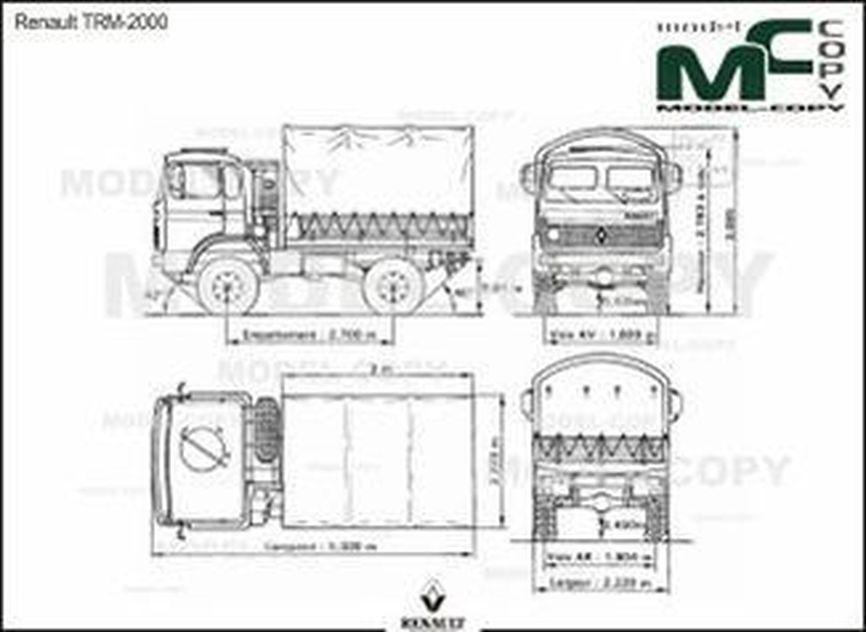 Renault TRM-2000 - 2D drawing (blueprints)