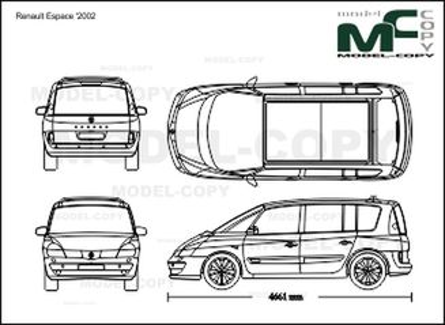 Renault Espace '2002 - 2D drawing (blueprints)