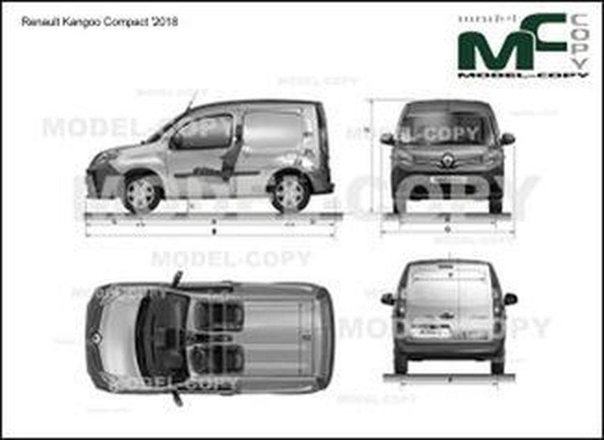 Renault Kangoo Compact '2018 - drawing