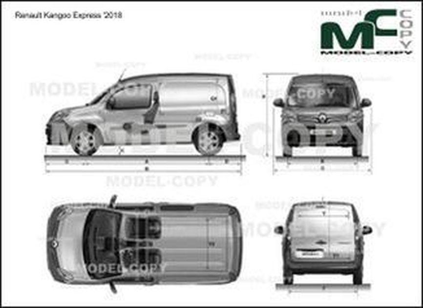 Renault Kangoo Express '2018 - drawing