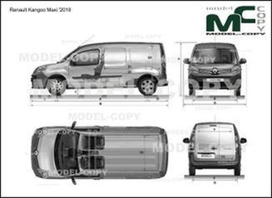 Renault Kangoo Maxi '2018 - drawing