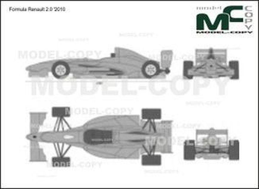 Formula Renault 2.0 '2010 - 2D drawing (blueprints)