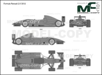 Formula Renault 2.0 '2012 - 2D drawing (blueprints)