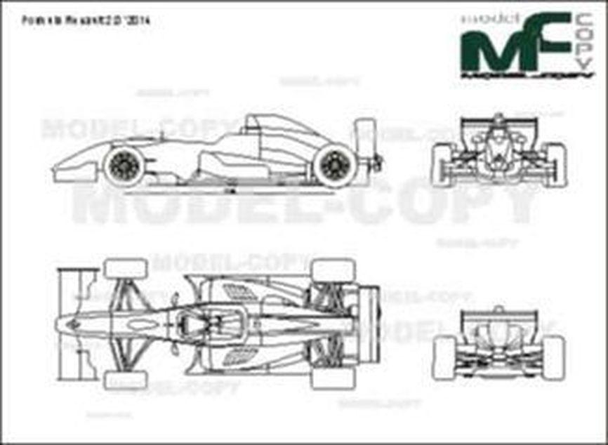 Formula Renault 2.0 '2014 - 2D drawing (blueprints)