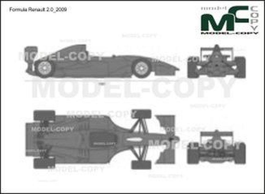Formula Renault 2.0_2009 - 2D-чертеж
