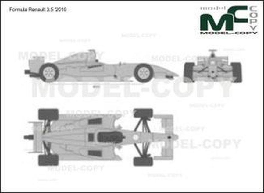 Formula Renault 3.5 '2010 - 2D drawing (blueprints)