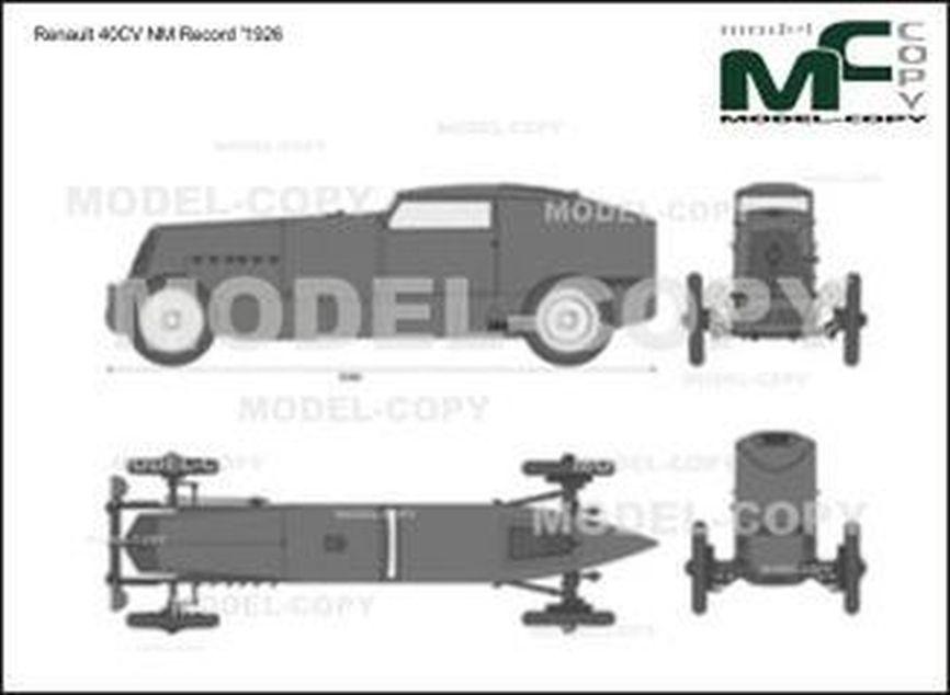 Renault 40CV NM Record '1926 - 2D drawing (blueprints)