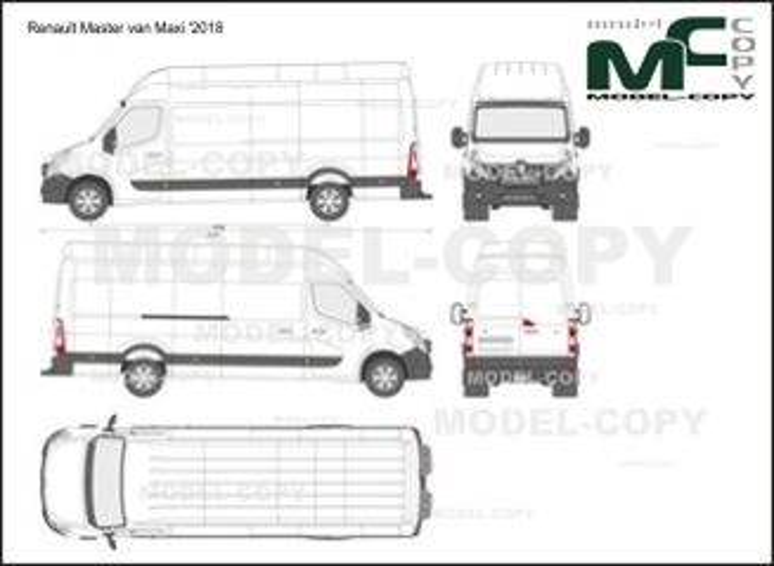 Renault Master van Maxi '2018 - 2D-чертеж