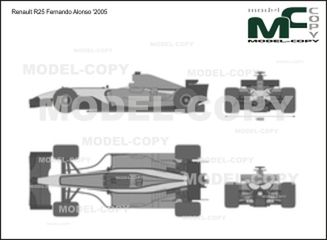 Renault R25 Fernando Alonso '2005 - 2D drawing (blueprints)