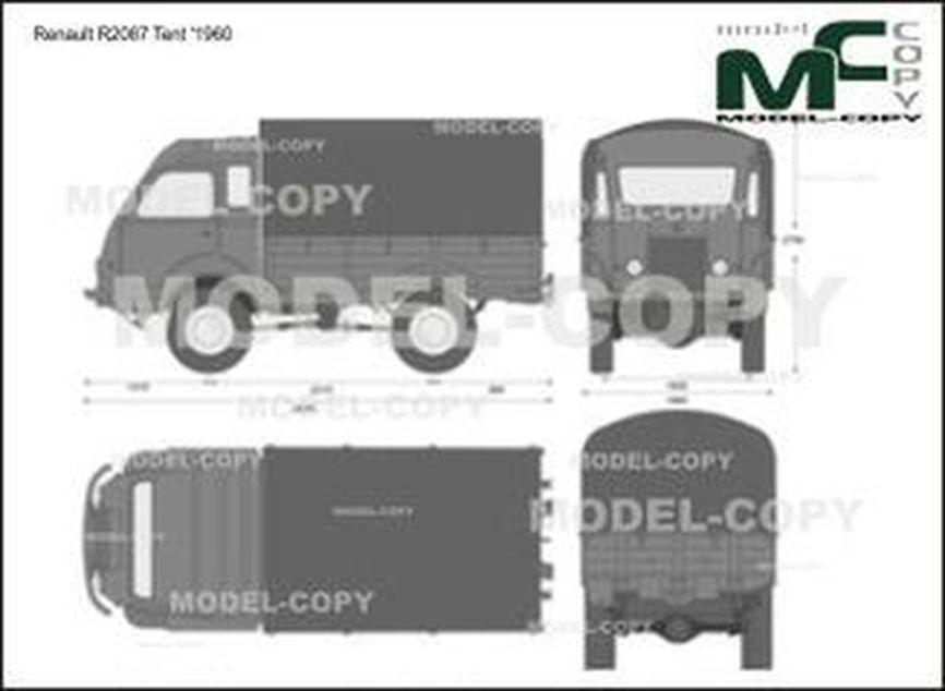 Renault R2087 Tent '1960 - 2D-чертеж