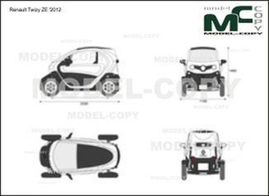 Renault Twizy ZE '2012 - 2D drawing (blueprints)