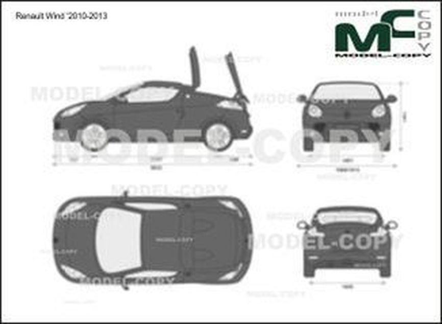 Renault Wind '2010-2013 - 2D-чертеж