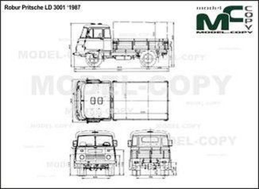 Robur Pritsche LD 3001 '1987 - 2D drawing (blueprints)