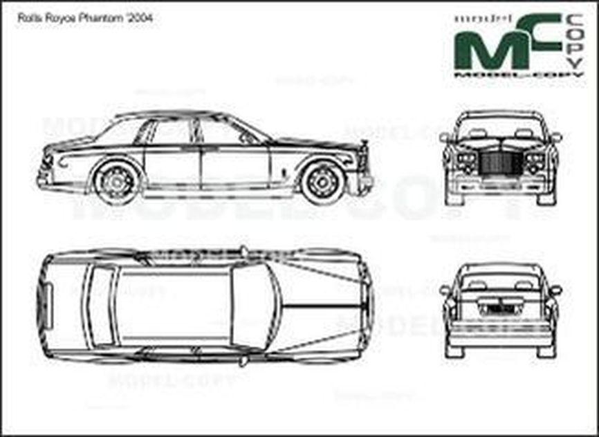 Rolls Royce Phantom '2004 - Desenho 2D