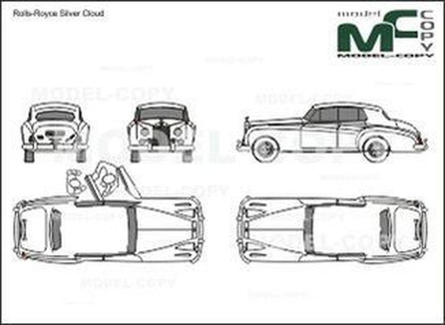 Rolls Royce Silver Cloud - 2D drawing (blueprints)