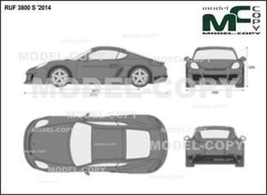 RUF 3800 S '2014 - 2D drawing (blueprints)
